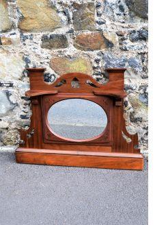 Mahogany overmantle / mirror