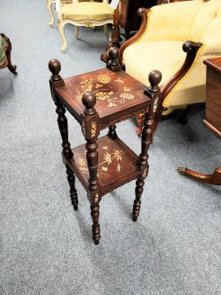 Chinese stand with inlay