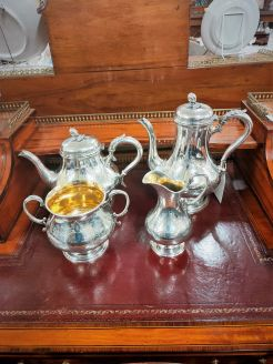 Four piece irish silver tea set