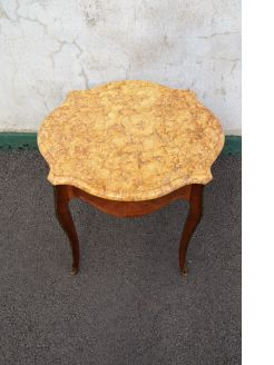 Marble top low table