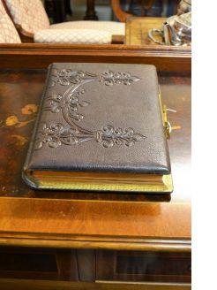 Victorian leather bound album