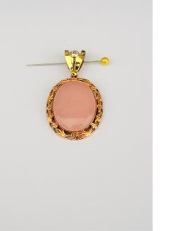 14ct gold quartz brooch