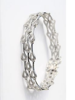 9ct gold & diamond bracelet