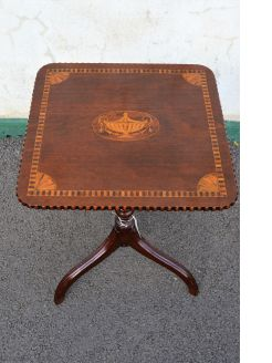 19th century mahogany snap top occasional table