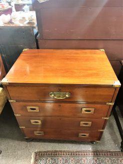 Mahogany military chest