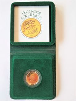 1980 22ct proof gold sovereign