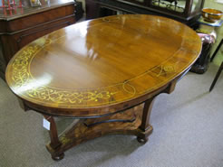 19th century Brass & inlaid Centre table