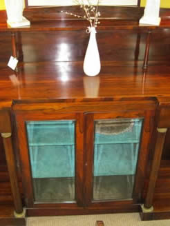 A 19th century rosewood display cabinet