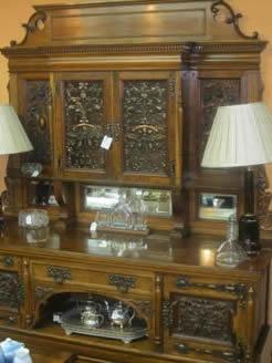 A Victorian pollard oak sideboard
