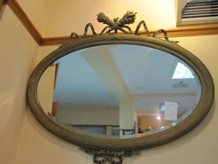 A victorian gilt framed mirror