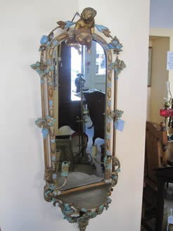 19th century gilt framed mirror