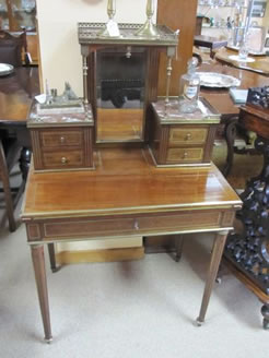 A 19th century mahogany desk.
