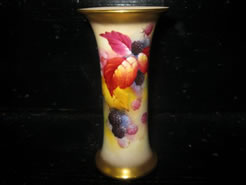 Hand painted Royal Worcester Vase