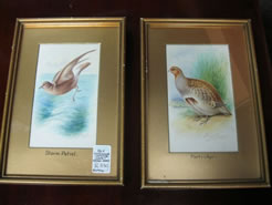 A pair of water colour drawings, signed.