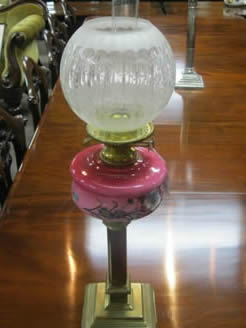 A victorian oil lamp