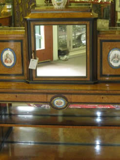 A victorian display cabinet