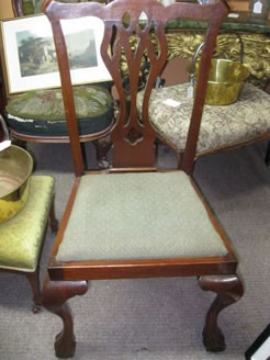 A set of six dining chairs