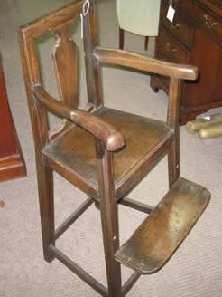 A georgian childs high chair