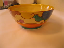 A hand painted clarice cliff bowl