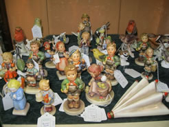 large selection of royal doulton / hummell/ goebel figures in store