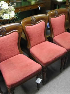 A set of four victorian mahogany chairs