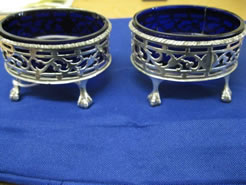 A pair of Irish Georgian Silver Salts