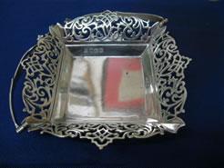 A silver basket