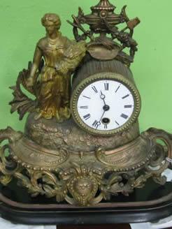 A victorian spelter clock