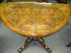 A victorian burr-walnut card table