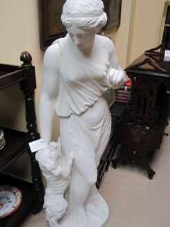 A 19th century plaster figure