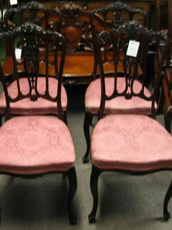 A set of four edwardian mahogany chairs