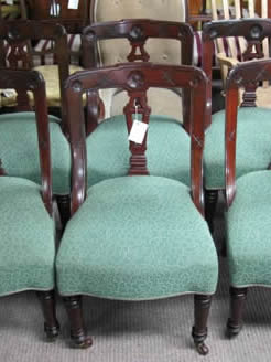 A set of six victorian mahogany chairs
