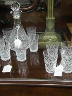 A selection of waterford and tyrone crystal glass
