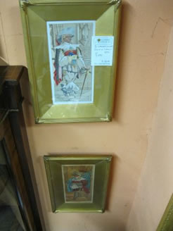 A pair of signed watercolours