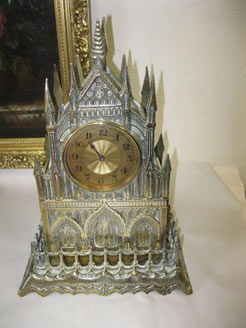 A victorian gothic-style clock