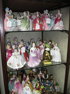 A large selection of royal doulton figurines