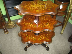 19th century mahogany 3 tier table