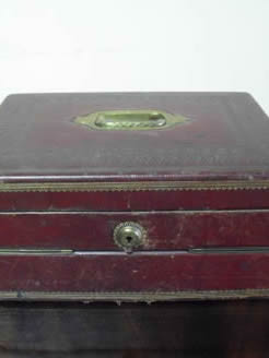 Victorian leather writing box.