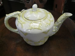 A belleek tea-pot