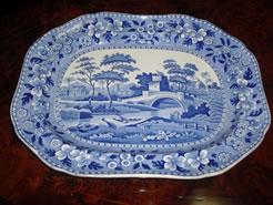 A 19th century Spode platter.