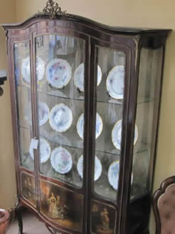19th century vitrine display cabinet