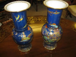 Pair of carltonware vases