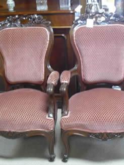 A pair Victorian armchairs.
