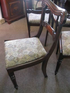 Set of four rosewood chairs