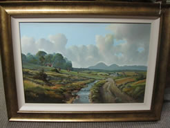 Oil Painting, signed - Mournes