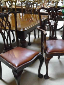 Set Six Mahogany Dining Chairs