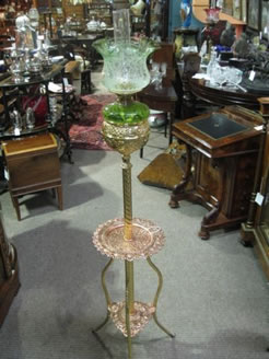 Brass and copper standard lamp