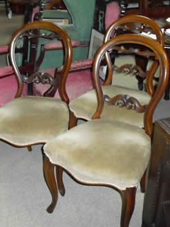 Set of 6 Mahogany Chairs.