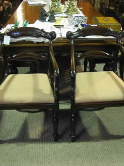 Set of eight William 1v mahogany chairs