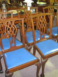 Set of six mahogany chairs